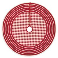 VHC Brands Gretchen Christmas Tree Skirt in Red/White