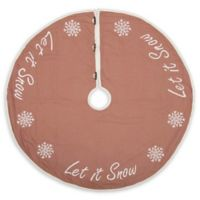 VHC Brands Let It Snow Christmas Tree Skirt in Red/Cream
