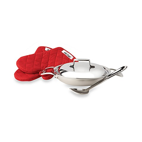 All-Clad d5 Brushed Stainless Steel 2 qt. Covered All-Purpose Pan