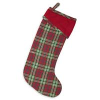 VHC Brands Connor Christmas Stocking in Red/Green