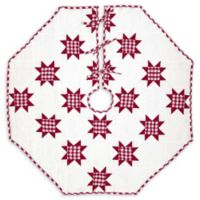 Emmie Red Patchwork 48-Inch Christmas Tree Skirt
