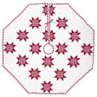 Emmie Red Patchwork 55-Inch Christmas Tree Skirt