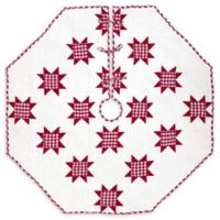 Emmie Red Patchwork 60-Inch Christmas Tree Skirt