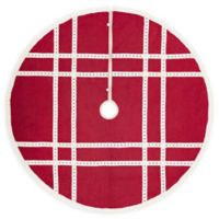 Margot 60-Inch Christmas Tree Skirt in Red