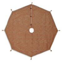 Soleil 55-Inch Christmas Tree Skirt in Red/Bronze