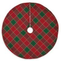 Tristan 48-Inch Christmas Tree Skirt in Red/Green