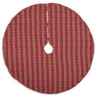 Galway 48-Inch Christmas Tree Skirt in Blue/Red