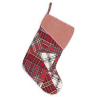 15-Inch Peyton Christmas Stocking in Red/Ivory