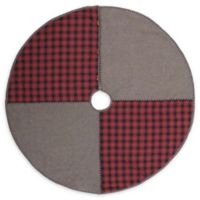 VHC Brands 48-Inch Andes Christmas Tree Skirt in Grey/Red