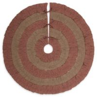 VHC Brands Sequoia 48-Inch Christmas Tree Skirt in Burgundy