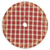 VHC Brands HO HO Holiday 55-Inch Christmas Tree Skirt in Red/Cream