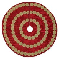 VHC Brands 48-Inch Memory Christmas Tree Skirt in Red