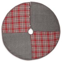 VHC Brands Anderson Patchwork 55-Inch Christmas Tree Skirt in Red/Grey
