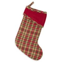 15-Inch Claren Christmas Stocking in Red