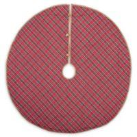 VHC Brands Gavin 48-Inch Christmas Tree Skirt in Red/Blue
