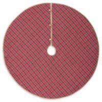 VHC Brands Gavin 55-Inch Christmas Tree Skirt in Red/Blue