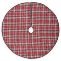 55-Inch Anderson Plaid Christmas Tree Skirt in Grey/Red