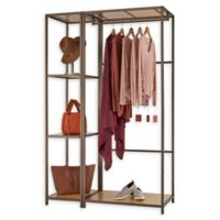 Trinity Modular 2-Piece Bamboo Closet Organizer in Bronze