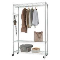 Trinity EcoStorage™ 3-Tier Mobile Garment Rack in Silver