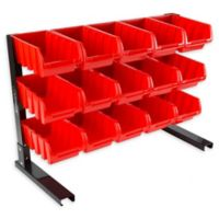 15-Compartment Storage Organizer in Red