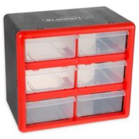 6 Drawer Storage Box in Red