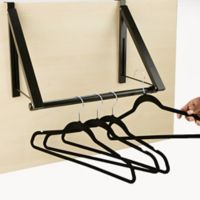 Mind Reader Over the Door Hanger Rack in Black