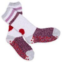 Ed Ellen Degeneres Women's Heart Cozy Socks with Grippers in Pink