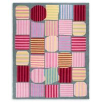 Safavieh Kids® Striped Shapes Rug in Blue/Multi