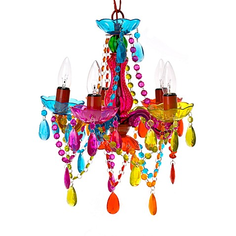 Gypsy Small 5 Light Chandelier Lamp In Multi Color