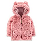 carter's® Size 3M Zip-Up Sherpa Jacket in Pink
