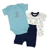 Finn + Emma® Size 0-3M 3-Piece Organic T-Shirt, Bodysuit and Shorts Set
