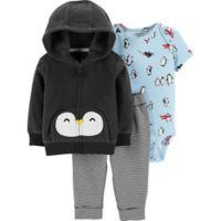 f55600e9d63 carter s® Newborn 3-Piece Penguin Hooded Jacket