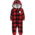 carter's® Size 18M Buffalo Check Fleece Coverall in Red
