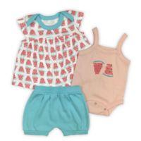Finn by Finn & Emma Watermelons 0-3M 3-Piece Cotton T-Shirt, Bodysuit and Shorts Set