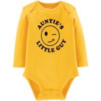 "carter's® Size 6M ""Auntie's Little Guy"" Slogan Bodysuit in Yellow"