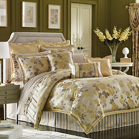 Croscill solitaire comforter set bed bath beyond - Bed bath and beyond bedroom furniture ...