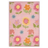 Safavieh Kids® Floral Rug in Pink