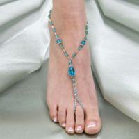 Lillian Rose™ Beaded Foot Jewelry Pair in Aqua