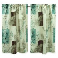 Bacova Taylor Window Curtain Panel Pair in Teal