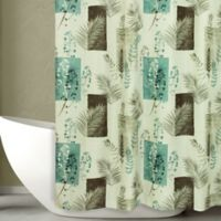 Bacova 54-Inch x 78-Inch Taylor Shower Curtain in Teal