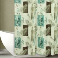Bacova 70-Inch x 72-Inch Taylor Shower Curtain in Teal
