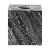 Pantera Marble Boutique Tissue Box Cover in Black