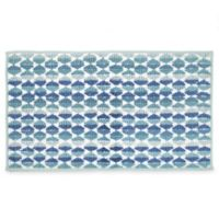 "Daya 20"" x 30"" Bath Rug in Blue"