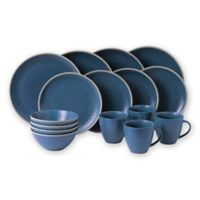 Gordon Ramsay by Royal Doulton® Maze Grill 16-Piece Dinnerware Set in Hammered Blue