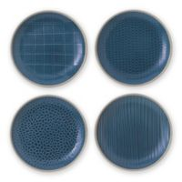 Gordon Ramsay by Royal Doulton® Maze Grill 6-Inch Plates in Hammered Blue (Set of 4)