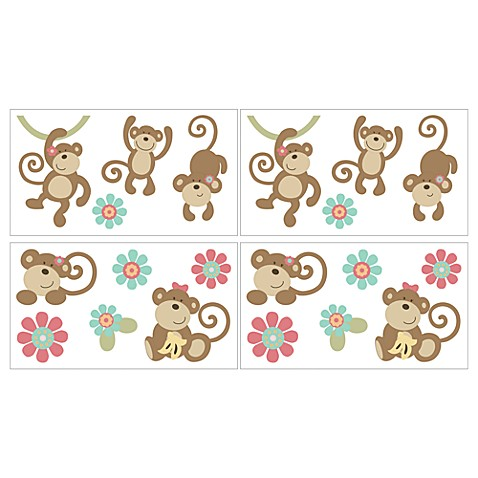 CoCaLo® Melanie the Monkey Removable Wall Appliqués