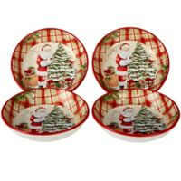 Certified International Holiday Wishes© by Susan Winget Soup/Pasta Bowls (Set of 4)
