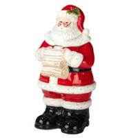Certified International Holiday Wishes© by Susan Winget 3-D Santa Cookie Jar