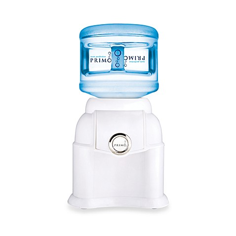 Primo Tabletop Bottled Water Dispenser In White With Chrome
