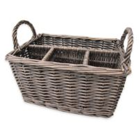 Bee & Willow™ Home Milbrook Wicker Flatware Caddy in Grey
